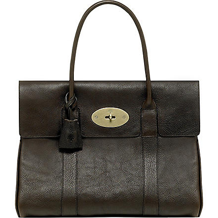 MULBERRY Bayswater natural leather handbag (Chocolate