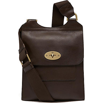 MULBERRY Antony small messenger bag (Chocolate