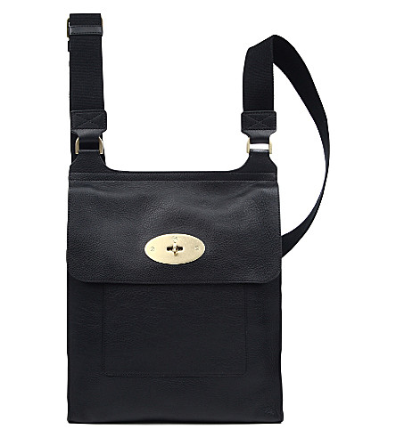 MULBERRY Antony natural leather messenger bag (Black