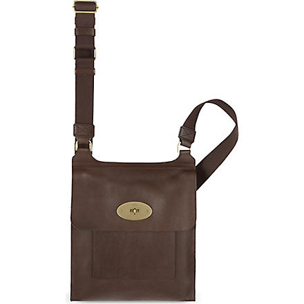 MULBERRY Antony natural leather messenger bag (Chocolate