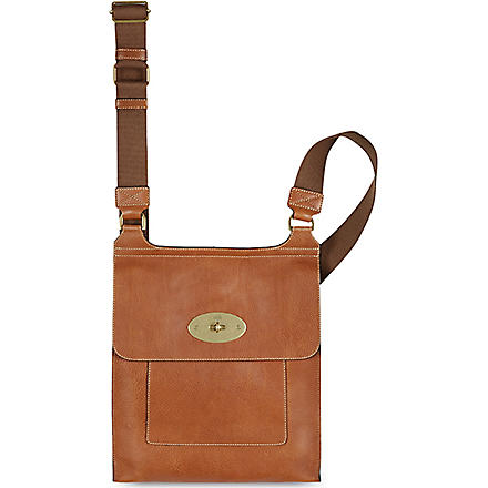 MULBERRY Antony natural leather messenger bag (Oak