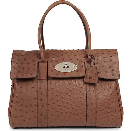 MULBERRY Bayswater ostrich leather handbag (Oak