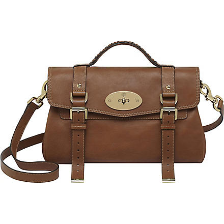 MULBERRY Alexa buffalo leather satchel (Oak/soft gold