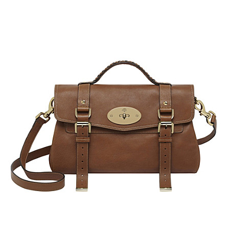 MULBERRY Alexa satchel (Oak/soft gold