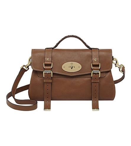 MULBERRY Alexa buffalo leather satchel (Oak/soft gold