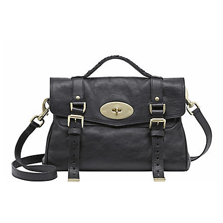 MULBERRY Alexa buffalo leather satchel (Black