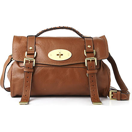 MULBERRY Alexa buffalo leather satchel (Oak