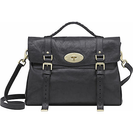 MULBERRY Alexa oversized buffalo leather satchel (Black