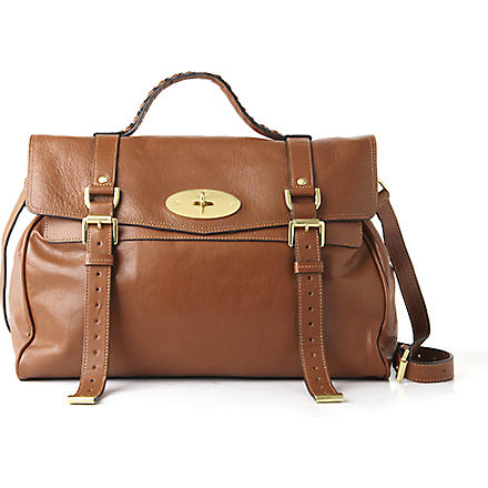 MULBERRY Alexa oversized buffalo leather satchel (Oak