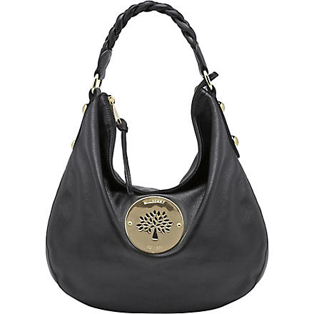 MULBERRY Daria spongy leather medium hobo (Black