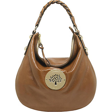 MULBERRY Daria spongy leather medium hobo (Oak