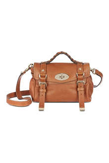 MULBERRY Alexa mini polished leather satchel