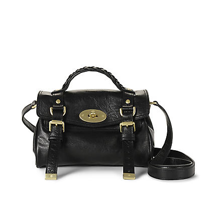 MULBERRY Alexa mini buffalo leather satchel (Black
