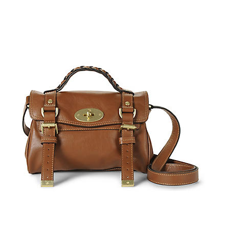 MULBERRY Alexa mini buffalo leather satchel (Oak