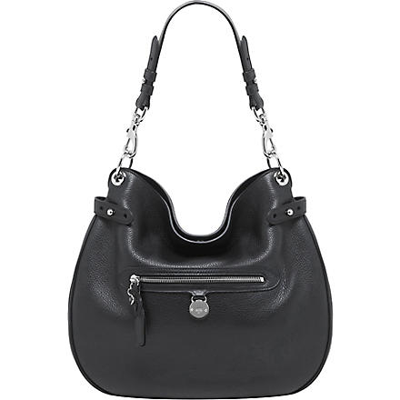 MULBERRY Somerset pebbled leather hobo (Black