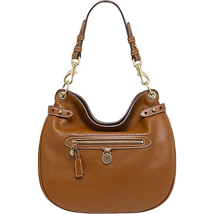 MULBERRY Somerset pebbled leather hobo (Oak