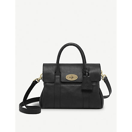 MULBERRY Bayswater small natural leather satchel (Black