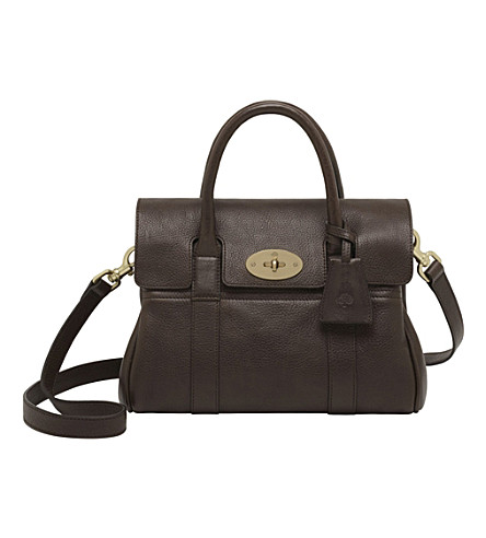 MULBERRY Small Bayswater satchel (Chocolate