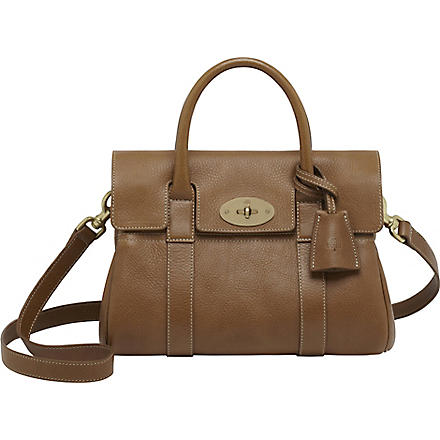 MULBERRY Bayswater small natural leather satchel (Oak