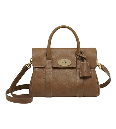 MULBERRY Small Bayswater leather satchel (Oak