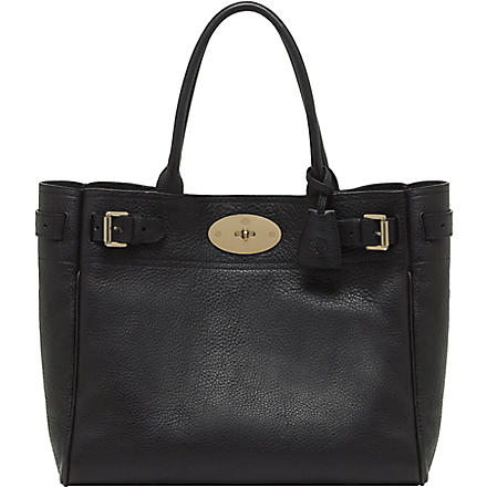 MULBERRY Bayswater natural leather tote (Black