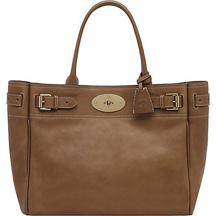 MULBERRY Bayswater natural leather tote (Oak