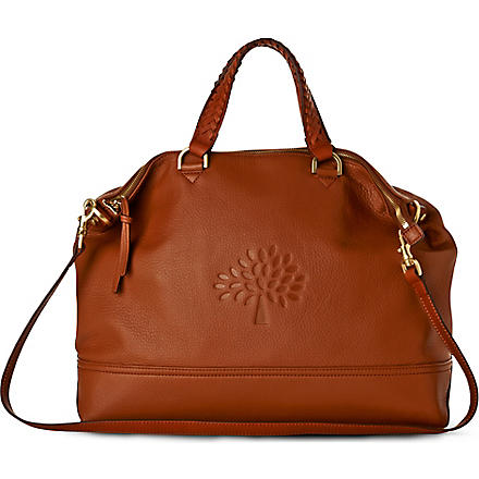MULBERRY Effie pebbled leather tote (Oak