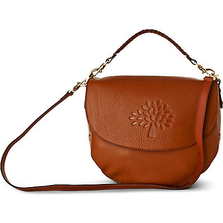 MULBERRY Effie spongy pebbled leather satchel (Oak