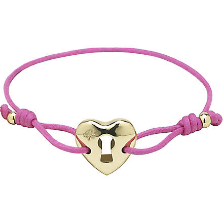 MULBERRY Heart friendship bracelet (Mulberry+pink