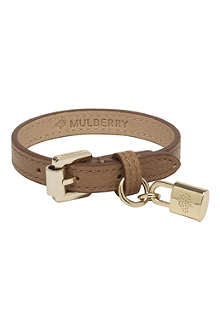 MULBERRY Padlock charm leather bracelet