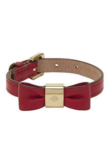 MULBERRY Leather bow bracelet