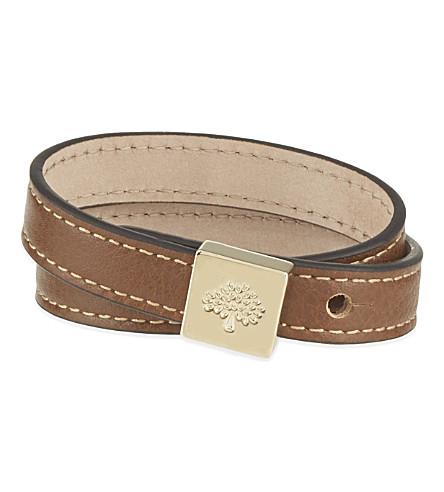 MULBERRY Tessie leather bracelet (Oak