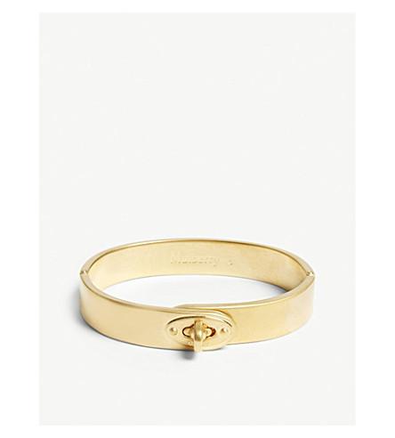 MULBERRY Bayswater slim metal bracelet (New+brass