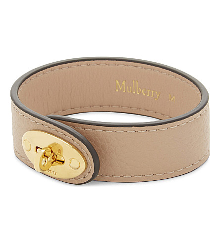 MULBERRY Bayswater leather bracelet (Rosewater
