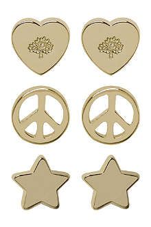 MULBERRY Love and peace stud earrings