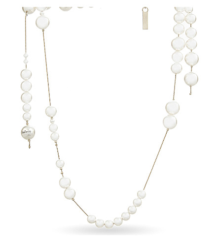 MULBERRY Long mother of pearl beads necklace (Pearl