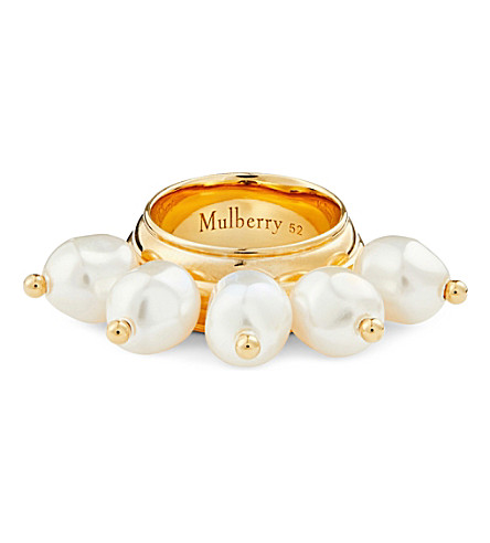 MULBERRY Faux-pearl ring (Pearl