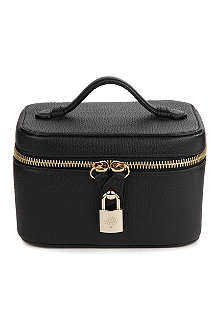 MULBERRY Grainy-print jewellery case