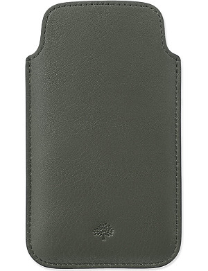 MULBERRY Velvet calf leather iPhone cover