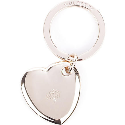 MULBERRY Heart key ring (Gold