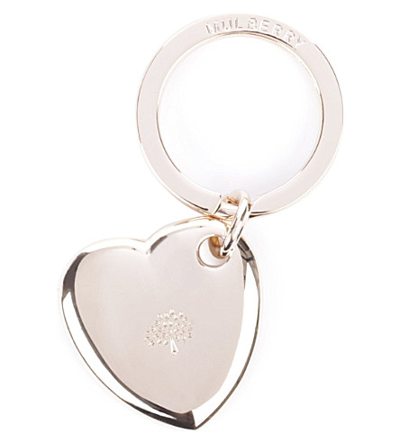 MULBERRY Heart keyring (Gold