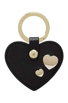 MULBERRY Heart leather key ring