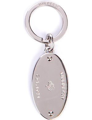 MULBERRY Oval plaque key ring