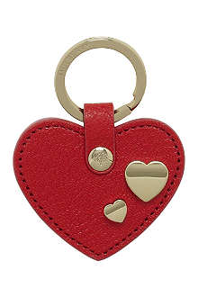 MULBERRY Valentines heart key ring