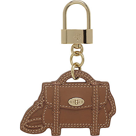 MULBERRY Bayswater leather bag charm (Oak