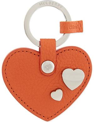 MULBERRY Heart rivet keyring