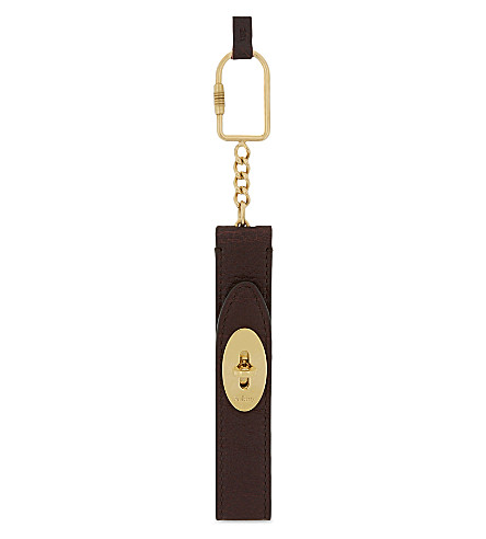 MULBERRY Looped Darley leather keyring (Oxblood
