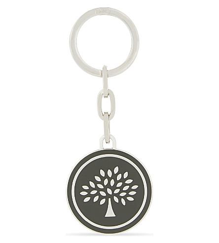 MULBERRY Tree medal enamel key ring (Racing green