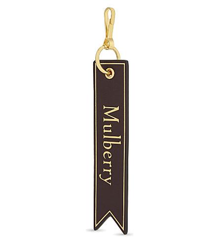 MULBERRY Logo leather bookmark keyring (Burgendy