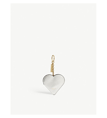 Heart leather portrait keyring